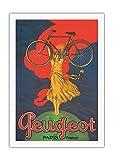 Pacifica Island Art Bicicletas Peugeot - París, Francia - Póster publicitario de Jean Carlu c.1922 - Impresión de Arte en Lienzo 69x102cm