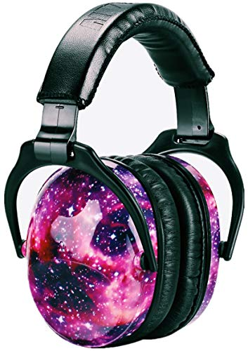ZOHAN 030 Casque Anti Bruit Enfant Facilement Réglable Pliable, Protection Auditive confortable avec Sac de Transport, SNR 27dB pour l'Autisme, TDAH, Feux d'Artifice, Concert, debroussailleuse-Galaxie