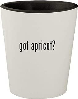 got apricot? - White Outer & Black Inner Ceramic 1.5oz Shot Glass
