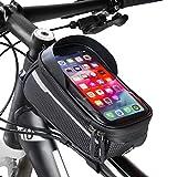 Velmia Fahrrad Rahmentasche [Wasserdicht] - Fahrrad Handyhalterung ideal fürs Navi