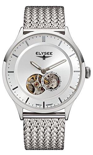 Elysee, 15100M, unisex, volwassene analoog automatisch horloge met roestvrij stalen armband
