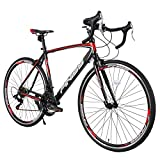 Merax Finiss 26' Aluminum 21 Speed Mountain Bike with Disc Brakes (Classic Black&Red)