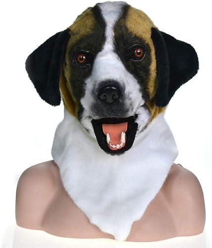 GERUIQI Mode Innovative volle Kopf Tier Bewegung Mund Cosplay Karneval kostüm hundebleiche tiermasken (Farbe   Gelb , Größe   2525 )