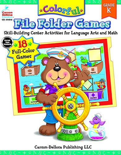 Colorful File Folder Games, Grade K (Colorful Game Books)