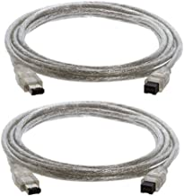 10-Foot IEEE-1394 9-Pin to 6-Pin FireWire 800/400 Cable Clear - Pack of Two