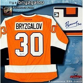 Ilya Bryzgalov Signed Jersey - Orange Reebok Premier - Autographed NHL Jerseys