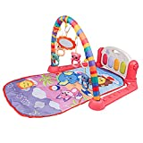 OLOPE Baby Gym Play Mats,Deluxe Kick 'n Play Piano Gym,Kick and Play Piano Gym Activity Center for Infants (F)