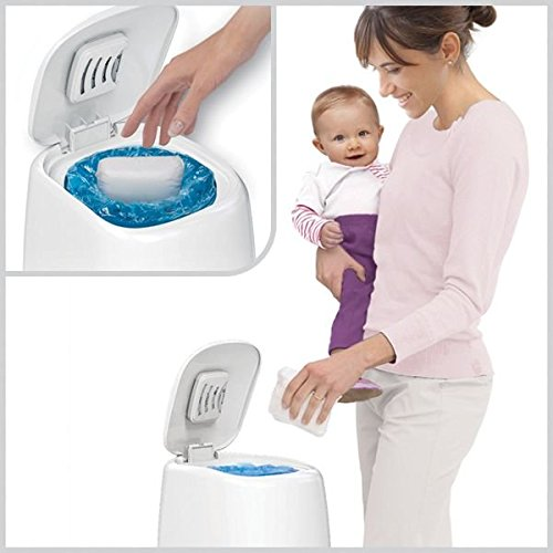 Playtex Diaper Genie Complete Diaper Pail with Odor Lock Technology, White