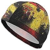 VANOE Swim Cap Gorra de natación con Bandera de España y águila Sombrero de natación de Playa de Alta Elasticidad para Hombres y Mujeres