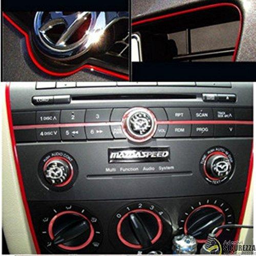 StickersLab Stripe-adhésif en différentes couleurs pour la décoration d'intérieur/extérieur pour voiture rouge