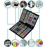 HLONGG 168 Piezas de Pintura Conjunto de lápices de Colores para niños de Dibujo Juego Incluye lápices de Colores, Acuarelas, Pastel Pasteles de Aceite Borrador Etc,XL