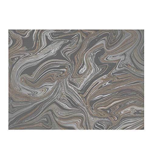 Alfombrilla de secado de platos de microfibra, almohadilla seca Prosecco, de cobre, de mármol brillante, de secado rápido, para cocina, resistente al calor, antideslizante y apta para lavavajillas.