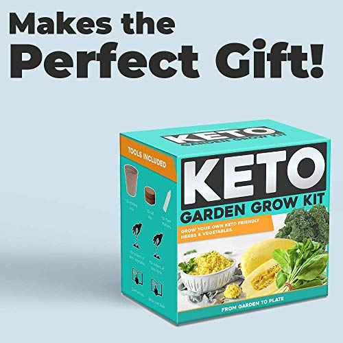 Keto Grow Kit Keto Garden Diet Grow Kit - Plant Your Own Keto Friendly Low Carb Meals Spinach, Kale, Zucchini, Grow Your Own Keto Meals 4
