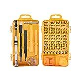 Yardwe - Juego de destornilladores de precisión para smartphones y relojes (color amarillo)