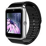 GT08 SmartWatch, Facebook WhatsApp, Bluetooth, reloj para teléfono móvil, para smartphone, Samsung, iPhone, HTC, teléfono Android, con cámara SIM, color plateado