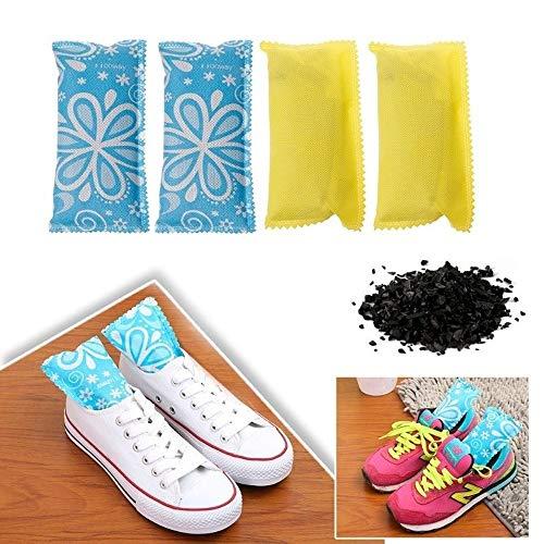 Desodorante de zapatos 2pc zapatos desodorante bolsa de carbón de bambú purificadores de aire de carbono Eliminador de olores for los zapatos Inicio Alquiler JFCUICAN ( Color : Azul , Size : Gratis )