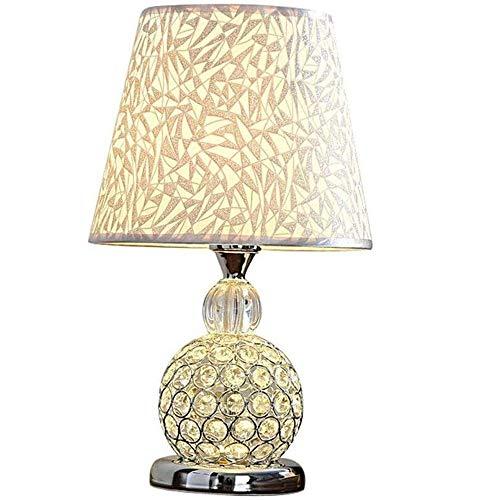 Liangsujiantd Flexo Led Escritorio, Lámpara Cristal de la Tabla, Caliente Europea Dormitorio lámpara de cabecera, Creativo decoración de la Sala de Control Remoto de atenuación lámp