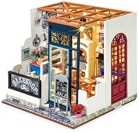 Rolife DIY Miniature Dollhouse Kit 1 24 Scale Model Bakery Diorama Gifts for Adults Nancy s product image