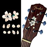 ギターのヘッドや ピックガードに インレイステッカー 桜