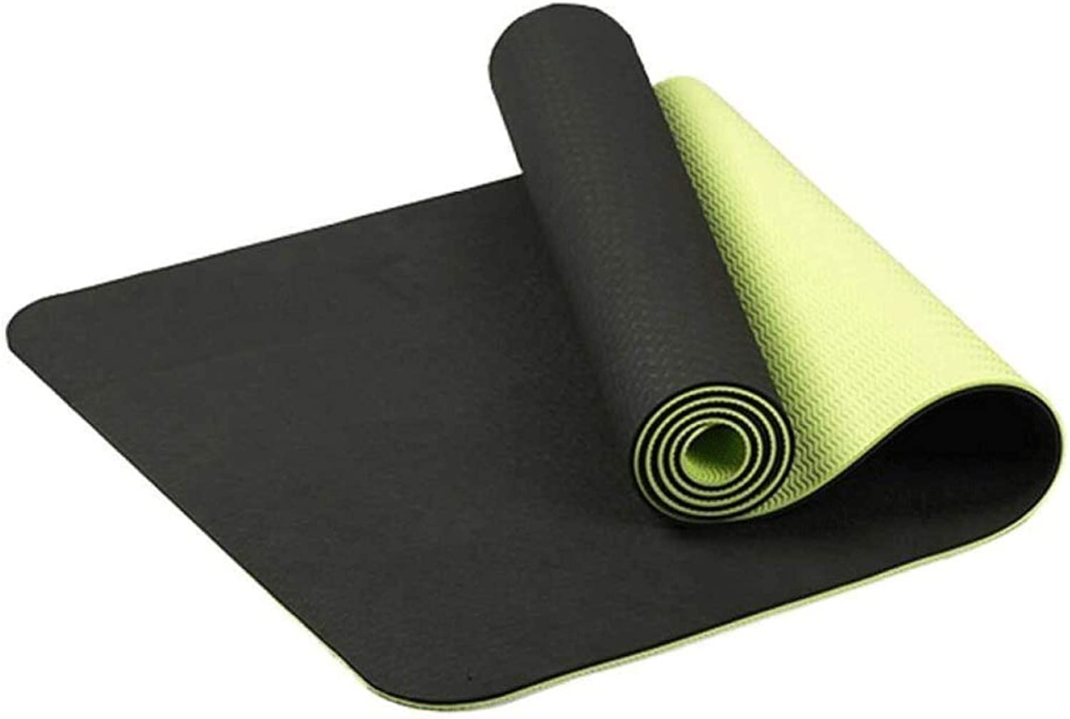 Outdoor Sports TPE Non Slip Yoga Mat Collapsible Portable Fitness Yoga Mat Durable and Lightweight Light and Alignment Yoga Mat Multi color Optional (color   E)