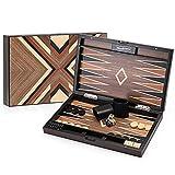 Best Backgammon Sets - Woodronic 15'' Wooden Backgammon Set, Folding Classic Board Review