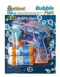 alldoro- Bubble Fun-Pistola LED, con 2 x 59 ml Soluzione per Bolle di Sapone con Luce e Effetto sonoro, 60625