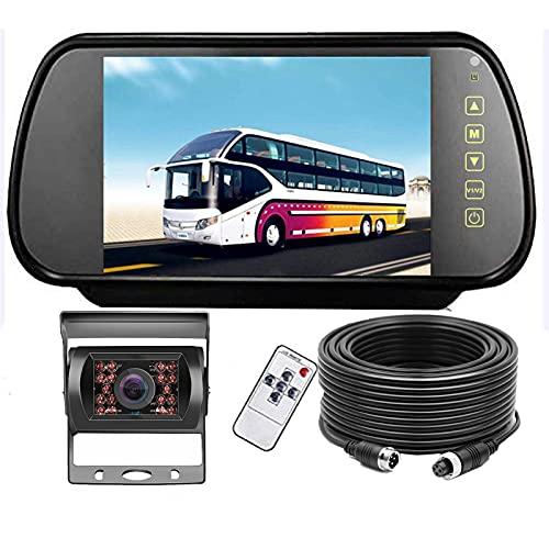 """Telecamera di Retromarcia Posteriore HD, kit Telecamere di Retromarcia per Auto Monitor LCD di Retromarcia da 7 """"+ 120 ° Grandangolare, Telecamera di Retromarcia con Retrovisione Impermeabile IP68"""
