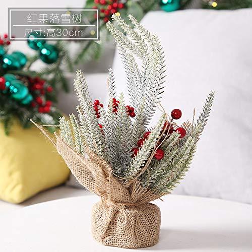 HTHJA Mini Árbol De Navidad, Mesa Decorada Árbol De Navidad con Conos...