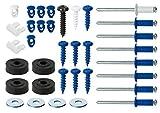 Cora 000116012 Kit Fissaggio Targhe Completo, 8 Rivetti, 8 Viti, 8 Bottoni, 8 Rondelle, 4 ...