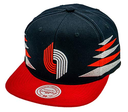 Mitchell & Ness NBA Portland Trail Blazers Snapback Cap Zwart