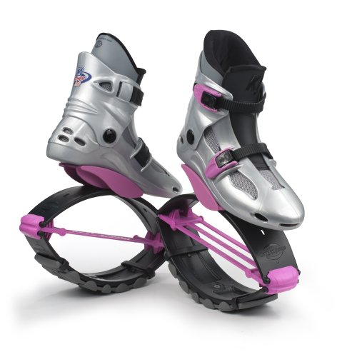Kangoo Jumps Power Shoes (Child's Model) (Silver & Pink, Boy's 4-6...