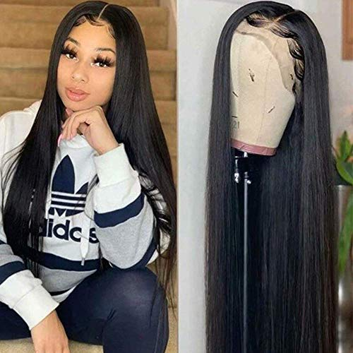 Maxine 360 Lace Frontal Wigs Pre-Plucked Hairline with Baby Hair Silky Straight Wave Human Hair Glueless Wigs 360 Full Lace Frontal Wig 100% Virgin Hair Wigs for Black Women 14 inch
