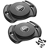 DD Gun Magnet 33 lbs.Rated Magnetic Gun Mount, Anti Scratch HQ Rubber Coated Concealed Firearm Holder for Car,Wall,Truck,Desks,Safes and Vehicle (Mini Magnet 2 Pack)