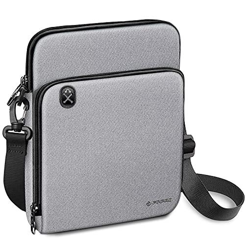 """FINPAC Tasche Schutzhülle für iPad Pro 11"""" 2021, iPad Air 4 10,9"""", iPad 10,2"""", 10,5"""" iPad Air/ iPad Pro, Galaxy Tab, 11-Zoll Tablet Tragetasche Schultertasche Zubehör Organisator Hülle, (Grau)"""