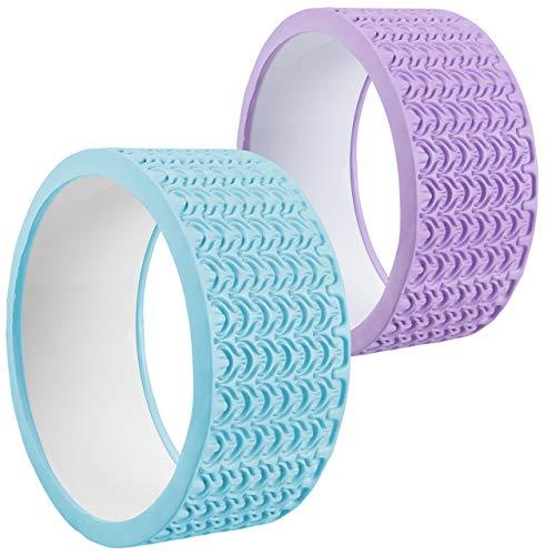 SportVida Yoga Wheel | Yoga Rad | Ideal für Fitness Training Pilates | Massagerolle zur Selbsmassage von Rücken und Wirbelsäule (Türkis)