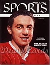 Sports Illustrated - With Label January 23 1956 - Jean Beliveau (Montreal Canadiens) (Magazine/Publication) (Has Address Label on Front) Dean's Cards 6 - EX/MT