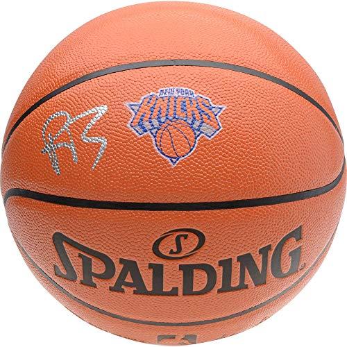 R.J. Barrett New York Knicks Autographed Spalding Logo Basketball - Fanatics Authentic Certified - Autographed Basketballs