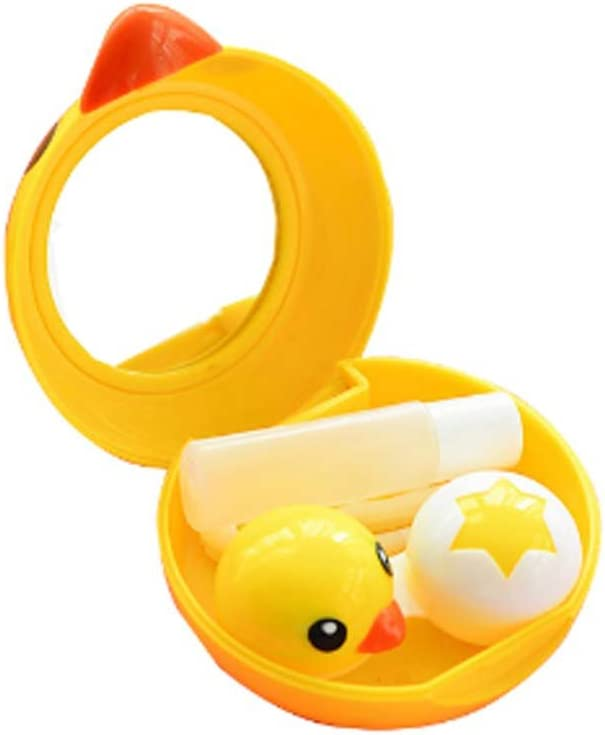 Small Yellow Free Daily bargain sale shipping Duck Contact Lens Companion Care Box Cute