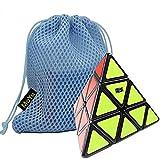 OJIN MoYu Pyraminx Cube Puzzle Cube Cubo de Juguete de Cubo Liso con una Bolsa de Cubo (Negro)