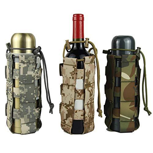 Nearthde Für molle Outdoor Trinkflaschentasche, 500 ml oder 2500 ml Verstellbarer Schultergurt, ideal für Edelstahl- und Plastikflaschen, Sport- und Energiegetränke