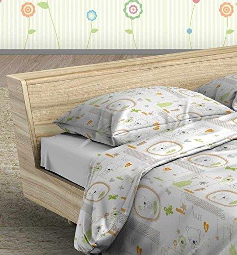 Bettwäsche Set für Bett 70x 140(natur Jacadi, Kissenbezüge 40x 60, Bettunterlagen Bettbezug 100x 150, 110x 140)