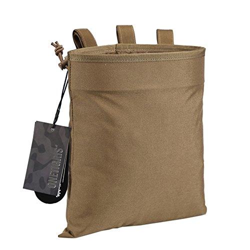 OneTigris Outdoor Molle EDC Taschen Taktische Mehrzwecktasche Dump Pouch Nylon (Braun)