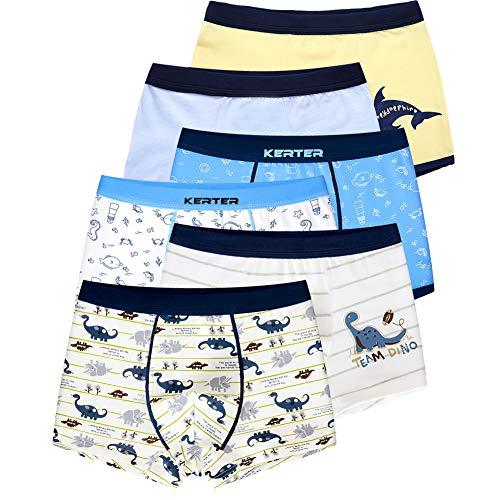 LeQeZe 6 Pack Kinder Jungen Boxershorts Unterwäsche Junge Boxer Unterhose Baumwolle Schlüpfer 2-11 Jahre Größe 86-146 (Boys 6 Pack/02, 10-11Jahre)