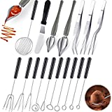 Yoande 17 Pieces Candy Dipping Tools Set Culinary Decorating Spoons Chocolate Dipping Scoop Kitchen...