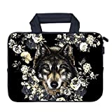 AMARY 11.6' 12' 12.1' 12.5 inch MacBook air Sleeve Neoprene Notebook Carrying Pouch Chromebook Sleeve Ultrabook Case Tablet Cover Fit Apple MacBook Air HP DELL Lenovo Asus Samsung (Wolf)