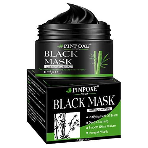 Masque Charbon Noire,Peel Off Masque, Black Mask, Blackhead Remover Mask, Anti-Point Noir Masque, Dissolvant de tête Noire pour l'huile et l'acné for Oily,Nettoyant en Profondeur Rétrécir Pores