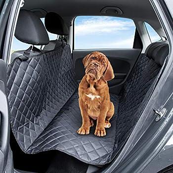Pet Express Housse de siège de voiture pour chien : la protection durable et résistante à la déchirure pour siège arrière en cuir, voitures, camionnettes, SUV et camions
