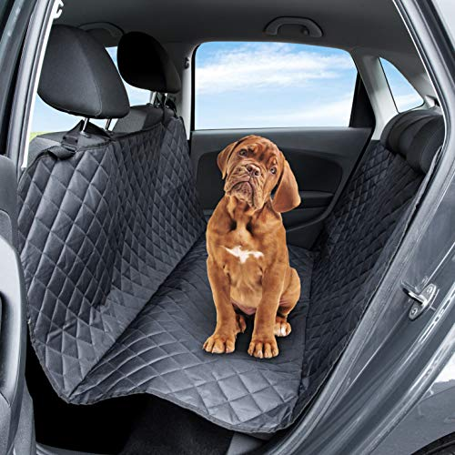 Pet Express Dog Car Seat Cover: The Durable Tear-Proof WaterProof Protector for Leather Back Seat Cars, Vans, SUV & Trucks