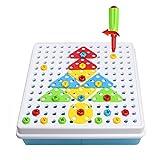 Jeu De Construction Mosaïque Jouet Assemblage Puzzle Blocs 180 Pcs Enfant Fille Garcon 3 ans 4 ans 5 ans