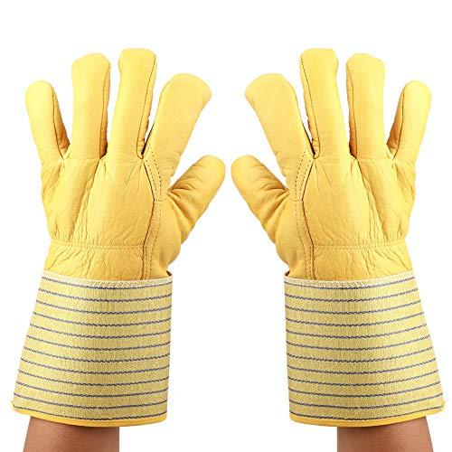 Hopcd Guantes criogénicos, -180 ℃ a -250 ℃ Guantes Impermeables de protección de Manos con nitrógeno líquido para Trabajo de Seguridad congelado, a Prueba de Viento, Manguito Largo, Unisex